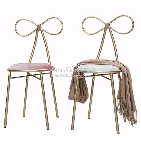 D,Modern Nordic Bar Stool Golden Iron Leg Dining Chair Living Room Lounge Chair Dining Chair Cafe Bar Stool Bar Chair