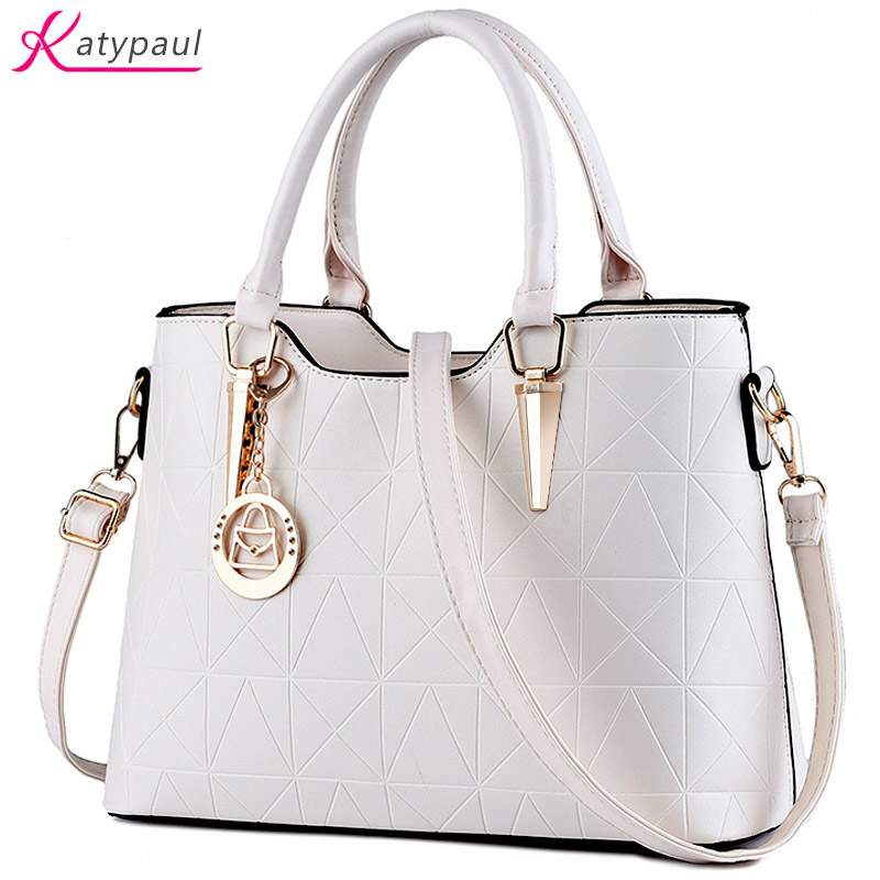 цены Women Pu Leather Bag Women Famous Brand 2017 Luxury Handbags Bags Designer Women Shoulder Bags sac a main Ladies White HandBags
