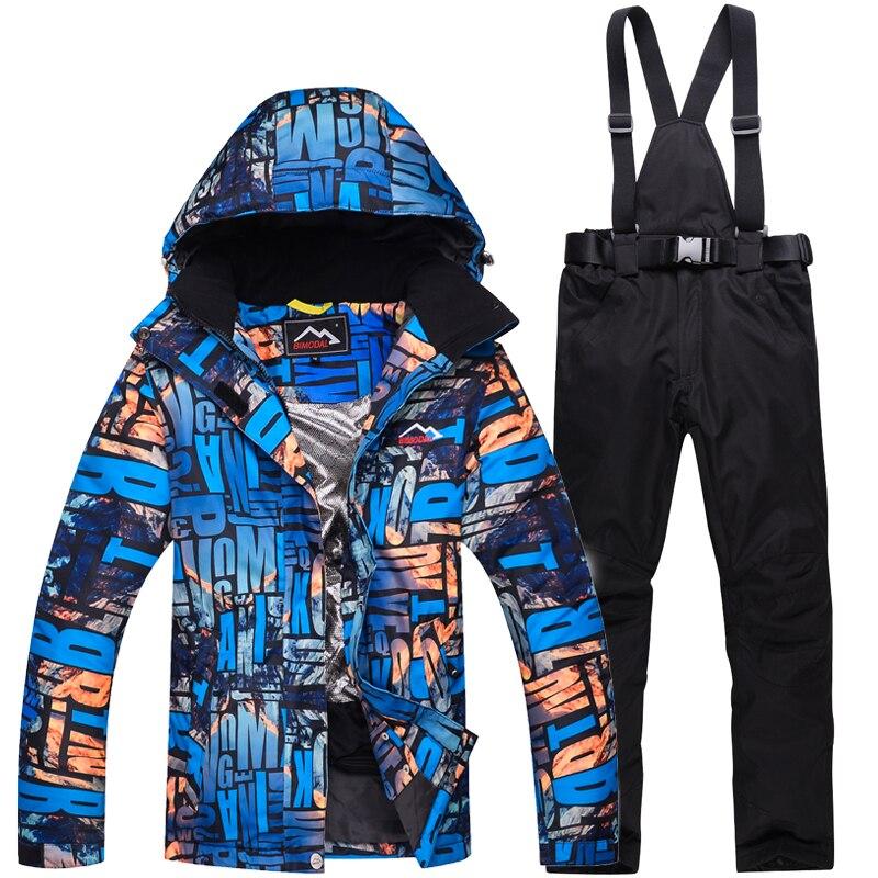 2019 femme chaud imperméable à l'eau hiver veste de Ski snowboard costumes respirant neige montagne Ski costume femmes Ski costume - 2