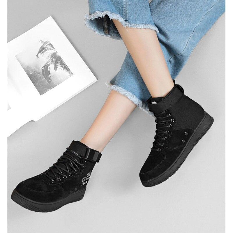 Femmes bottes pour sport style casual cheville chaussures à lacets casual cheville chaussures zapatos de mujer zapatos de hombre sapatos mulher bottes - 2