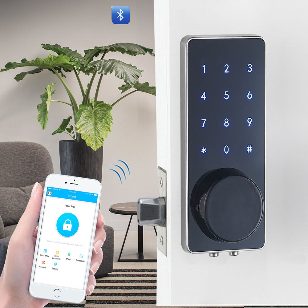 YOHEEN Zinc Alloy Security Digital Door Lock Touch Keypad Electronic Keyless Password Bluetooth Door Lock With GSM APP YJ110-in Electric Lock from Security & Protection
