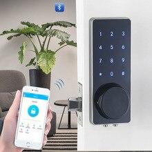 YOHEEN Çinko Alaşım Güvenlik dijital kapı kilidi Dokunmatik Tuş Takımı Elektronik Anahtarsız Şifre Bluetooth Kapı Kilidi GSM APP YJ110