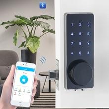 Yoheen 아연 합금 보안 디지털 도어 잠금 터치 키패드 전자 열쇠가없는 비밀 번호 블루투스 도어 잠금 gsm app yj110