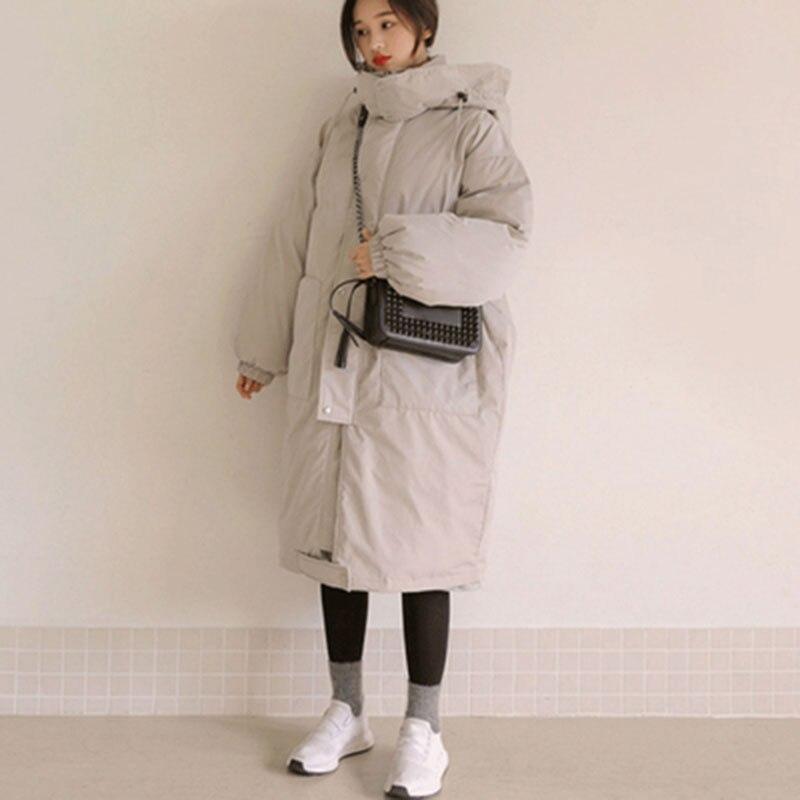 Женские зимние куртки размера плюс, повседневное пальто, женская парка с длинным капюшоном, утолщенная теплая Женская парка с хлопковой под...