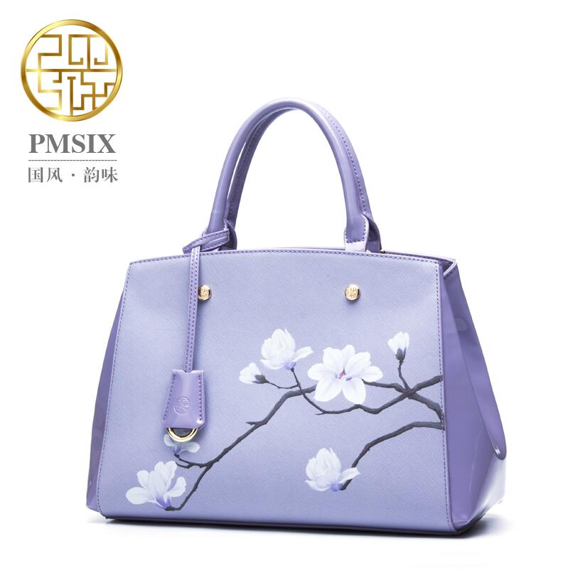 2017 New quality leather women bag famous brands fashion Embossed women handbags shoulder Magnolias Cowhide Killer bag new women genuine leather bag brands chinese style head layer cowhide embossed fashion quality women handbags shoulder bag