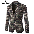 TANGNEST 2017 Camouflage Color New Design Spring Autumn Men Casual Blazer Hot Sale Fashion One Button Asian Size Suits MWX309