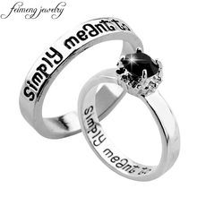 Feimeng ювелирные изделия Кошмар перед Рождеством кольцо Салли и Джек Мы просто должны быть буквенным кольцом для женщин очаровательные ювелирные изделия