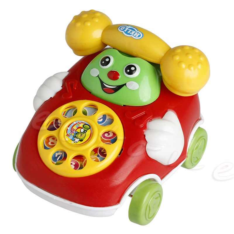 Baby Electric Phone Mobile Toys Cartoon Model Gifts Early Educational Developmental Music Sound Learning  Kids Gifts Toy