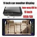 9 pulgadas TFT LCD Monitor Del Coche para VCD DVD Cámara de video de $ number canales de entrada de prioridad inverso pantalla del monitor del coche de alta calidad