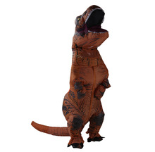 Halloween T-Rex Jurassic Park World DINOSAUR Inflatable Adult Costume Jurassic Party Dress Stage Christams Mascot Costume