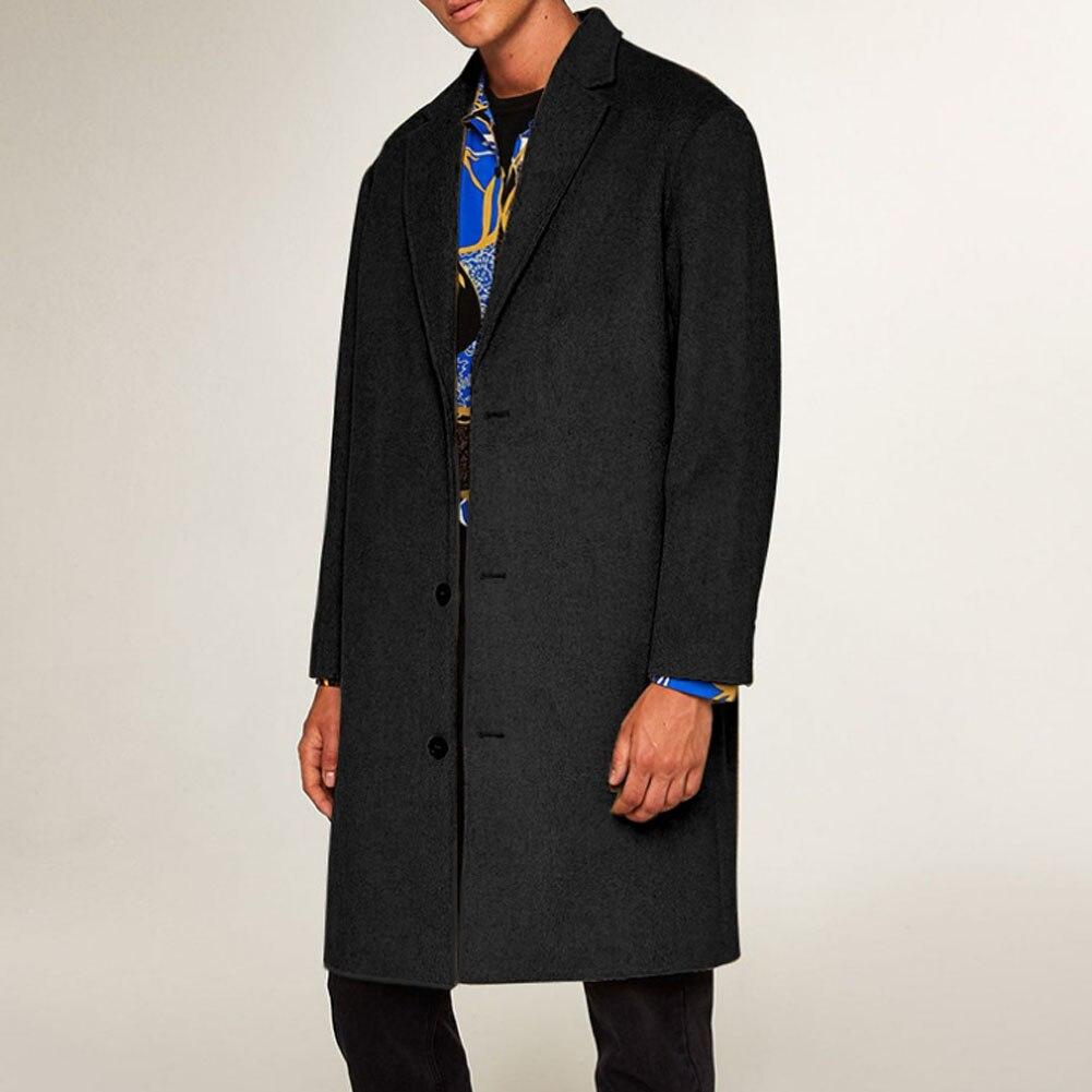 HTB1CM0aK4naK1RjSZFtq6zC2VXa3 2019 New Fashion Men's Wool Coat Winter Trench Coat Outwear Overcoat Long Sleeve Jacket Trench M-3XL