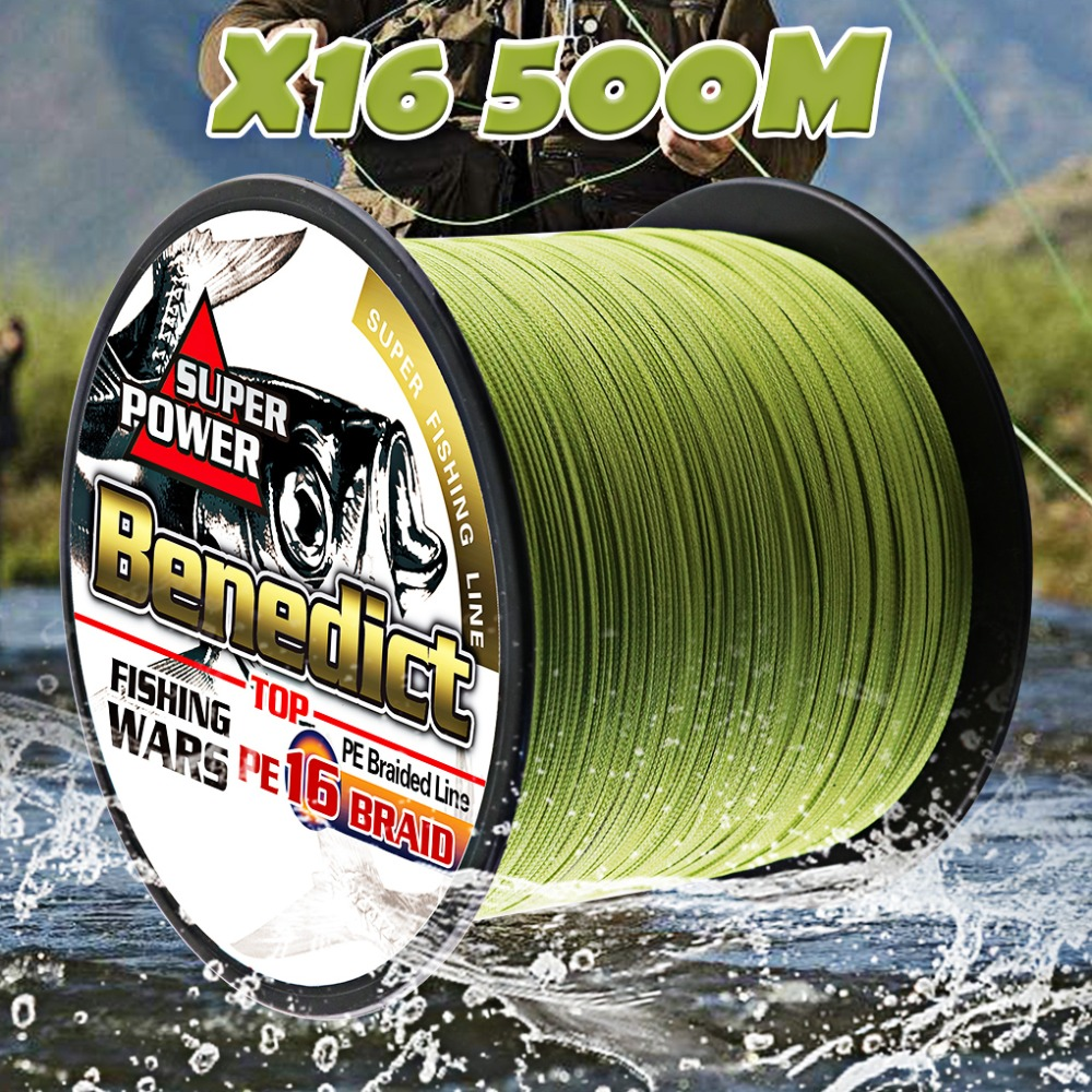 multifilament pe fishing line 16 Strands braided 500M hollowcore 20 500LBS thread line 0.20 2.0mm super saltwater fishing cords