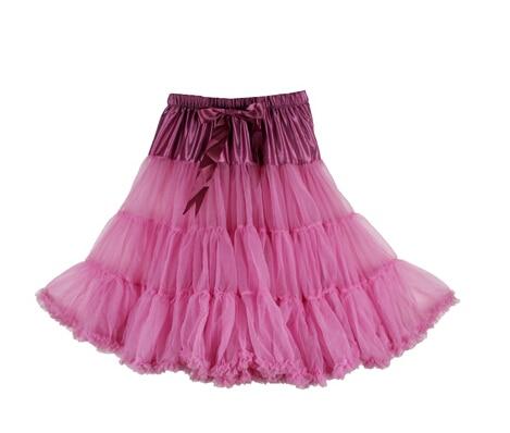 Евро ЗО, проверка, Нижняя юбка для женщин, шифоновая юбка-американка, юбка-пачка для взрослых, бальное платье, для танцев, летняя, 65 см, длинная юбка, сексуальная, однослойная - Цвет: dusty pink