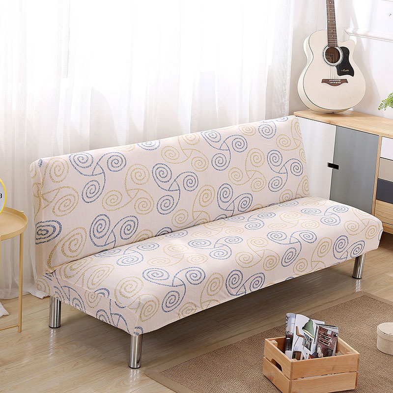 Universal size Armless Sofa Bed Cover Folding seat slipcovers stretch covers cheap Couch Protector Elastic bench Covers 5826