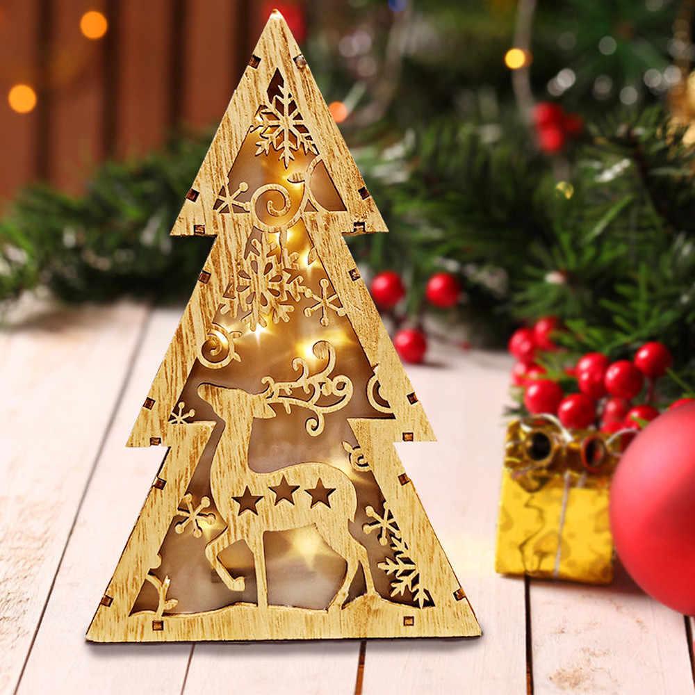 LED Fühlte Weihnachten Baum dekorationen Geschenke Für 2019 Neue Jahr Weihnachten Decor weihnachten dekorationen für home kerst decoratie