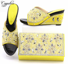 Capputine African Style Shoes And Bag To Match High Quality Italian Shoes and Bag Set Nigerian