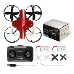 Atoyx Mini Drone with 2.4G RC helicopter Quadcopter remote control Dron Headless Mode Toy AT66 For Kids