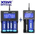 XTAR Ladegerät Set VC2 VC4 LCD Ladegerät Micro-USB Powered 5V 2.1A 3,6 V 3,7 V 20700 21700 18650 batterie Ladegerät XTAR VC2 VC4