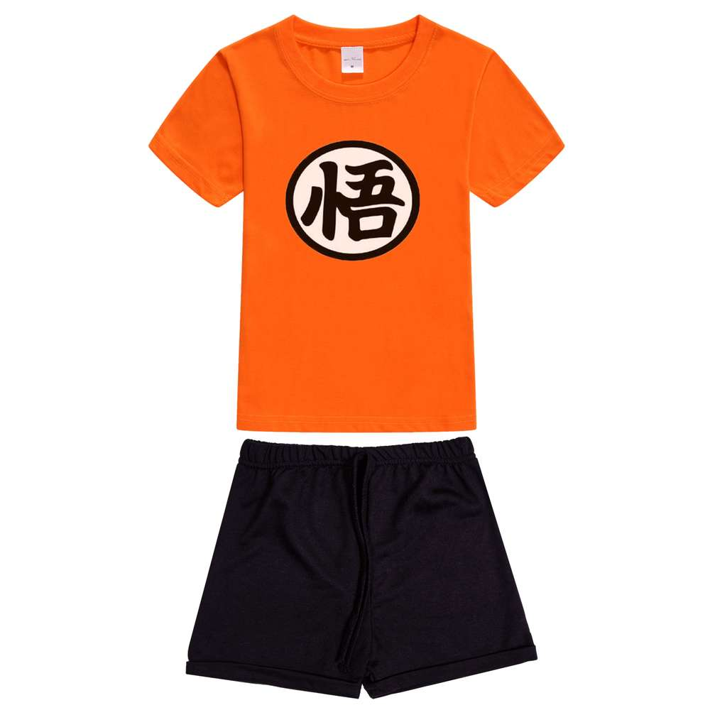 2PCS Boys Baby Kids Clothes Summer Boys Anime Dragon Ball z Children Clothing Set Short Sleeve T-Shirt + Shorts goku Super Saiya