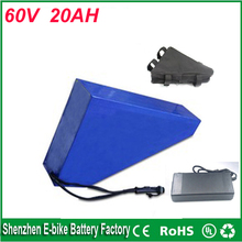 Triangle style ebike lithium battery 60v 20ah lithium ion bicycle 60v 1800welectric scooter battery for kit electric bike