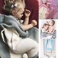 Bebé Niños Niño Recién Nacido Manta de Conejo de Punto contoneo Colcha Toallas De Baño Colchoneta