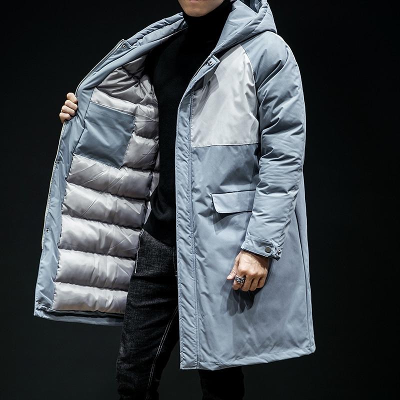 9de216c69b41 Capuche 2018 Décontracté Vêtements Vestes Nouveau Outwear Mens D hiver Parka  Chaud Couleur Manteaux Patchwork 5xl Marque À Taille gris Bleu Manteau  Hommes ...