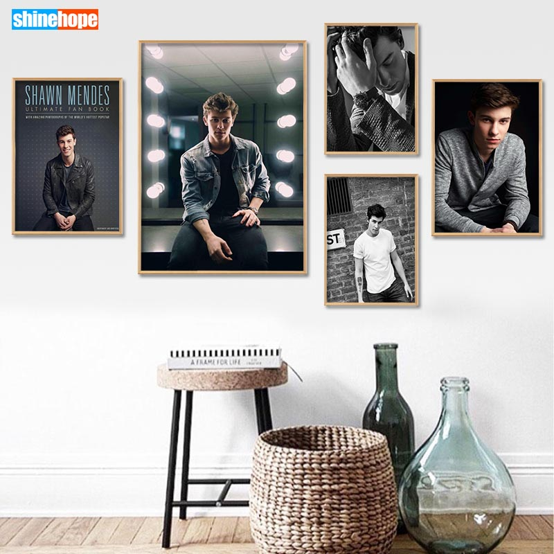 Canvas Poster Custom Shawn Mendes Canvas Painting Poster Home Decor Cloth Fabric Wall Art Poster