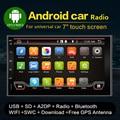 НОВЫЕ Android 4.4 Четырехъядерный ПРОЦЕССОР Двойной 2 Din Автомобильный GPS Навигации авторадио-Dvd-плеер Стерео BT RDS ЕМКОСТНЫЙ Сенсорный ПК Видео ТВ
