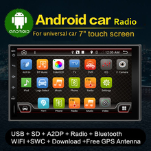 NEWEST Android 4.4 DUAL-CPU Double 2 Din Car GPS Navigation Autoradio Non-DVD Player Stereo BT RDS CAPACITIVE Touch PC Video TV
