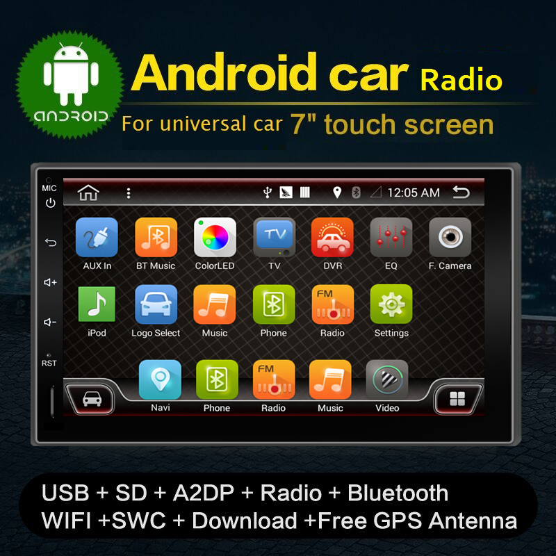 NEWEST Android 4.4 Quad-CPU Double 2 Din Car GPS Navigation Autoradio Non-DVD Player Stereo BT RDS CAPACITIVE Touch PC Video TV android 5 1 car radio double din stereo quad core gps navi wifi bluetooth rds sd usb subwoofer obd2 3g 4g apple play mirror link