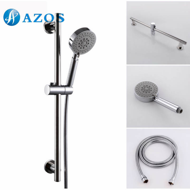 5function hand shower head with adjustable slide bar polished sus304 stainless steel chrome