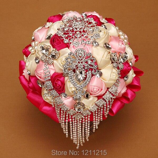 Luxus Brautstrauss 2016 Heisse Verkaufe Bunte Hochzeit Halt Blume Mit
