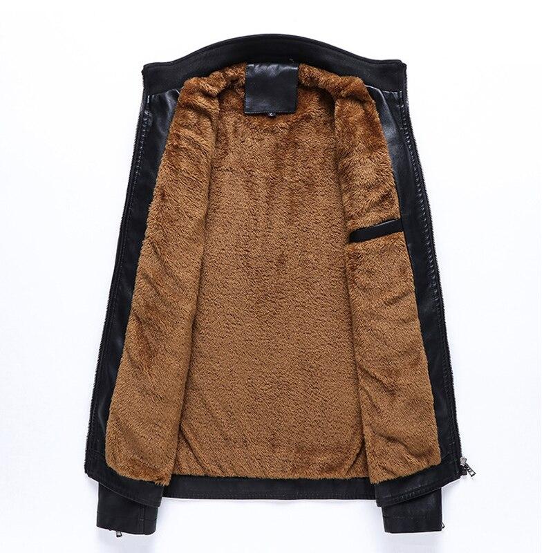 6xl Veste Qualité coffee Chaud De 2018 En Haute Marque 5xl Épaississent Plus Jaqueta Couro Black Casual Hiver Masculina Cuir Hommes La Taille ARL534j