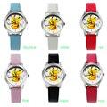 Good Gift!  Cartoon Pattern Boys Girls Students Kids Pikachu Silicone New Analog Quartz Wrist Watche
