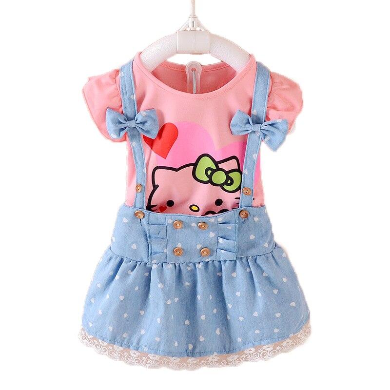 Tienda Online 2 piezas Girls vestido de Verano 2017 niños ropa niñas ...