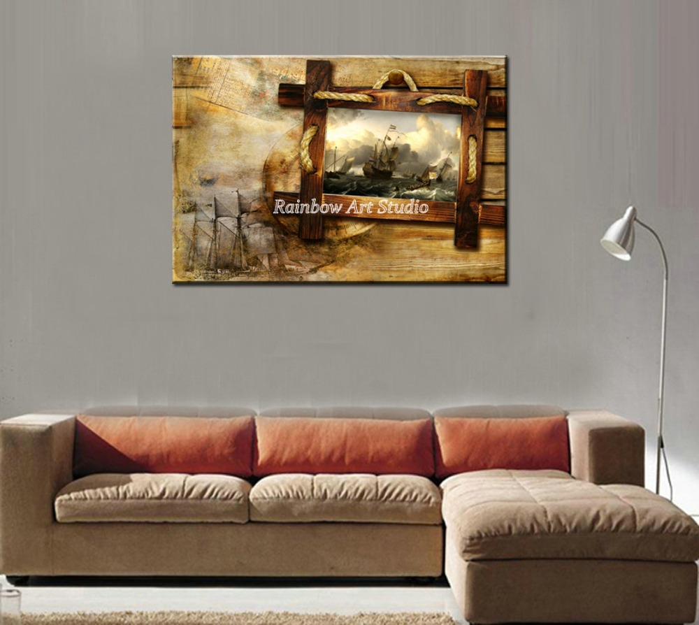 Modern Painting For Living Room Aliexpresscom Buy Large Decorative Classic World Map Drawing
