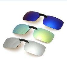 rectangular aluminium magnesium alloy Polarized sun Lens MEN DRIVING Clip on sunglasses Prescription glasses Polarized Clip-On