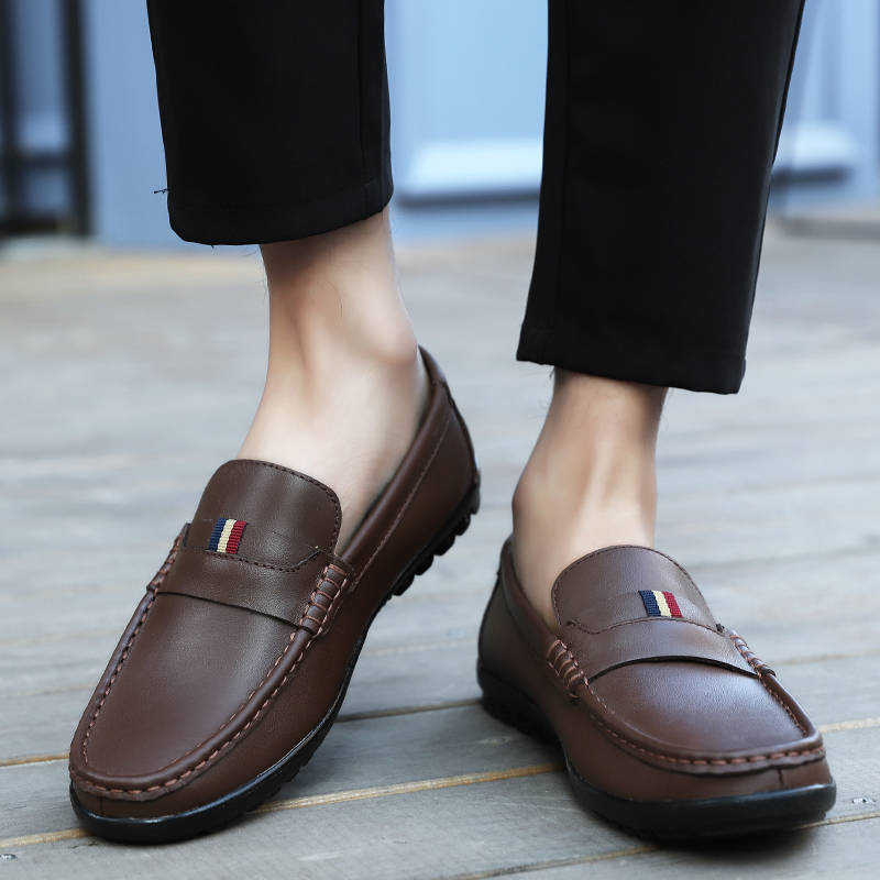 Black Chaussures Conduite Respirant Appartements on 2019 Décontractées dark Brown Hommes Paresseux Slip Été Printemps Mocassins Confortable D'affaires De brown PkiZOXuT