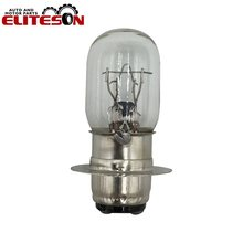 1 PCS T19 P15D-25-1 Clear Transparent Motorcycles Front Headlight Lamp Bulb 12V 35/35W Double Filaments(China)