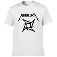 Men T Shirt Heavy Metal Rock Metallica T Shirt Men O Neck Rock Classic Cotton Tee
