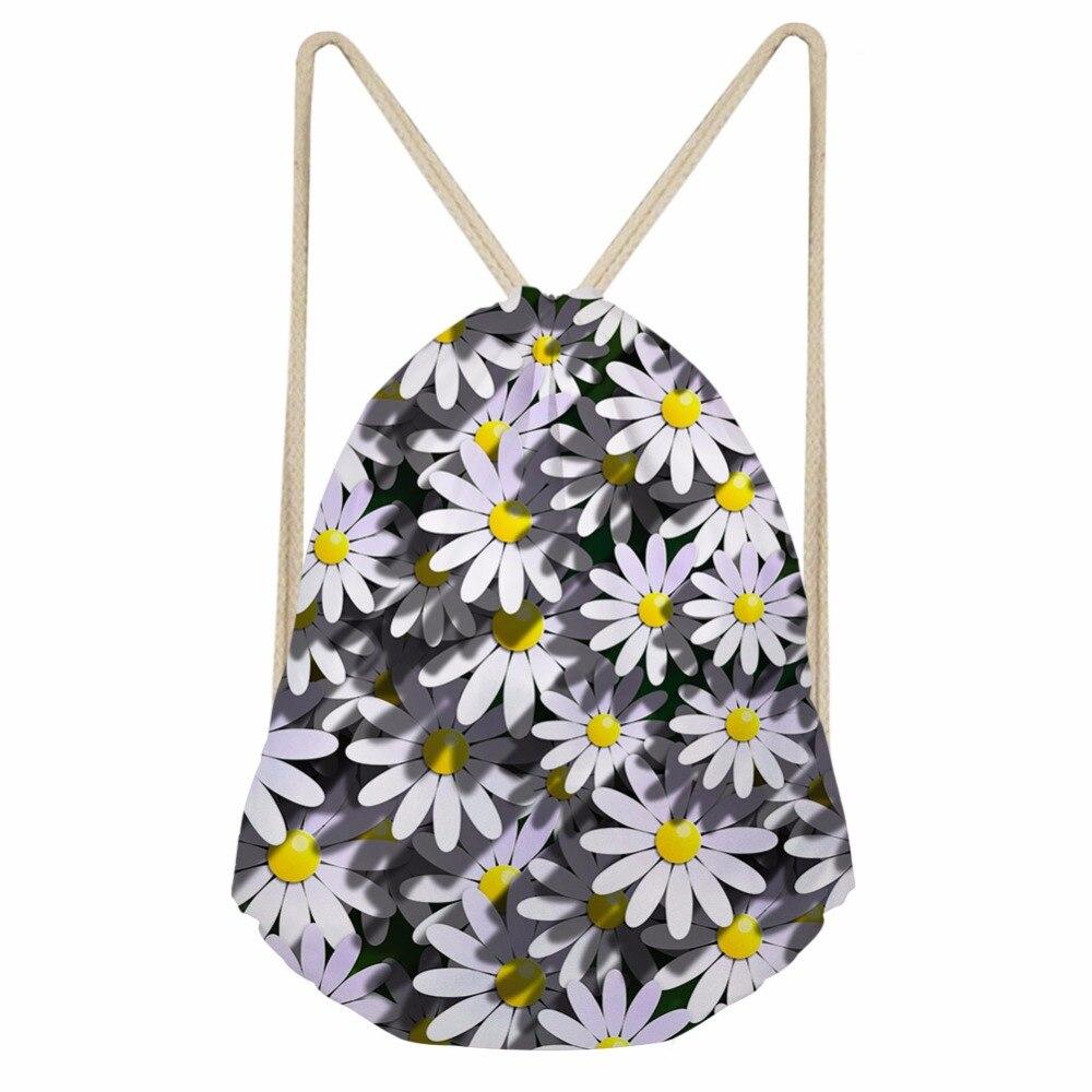 Noisydesigns mujeres bolsas de cordón Garten flor patrón saco para ...