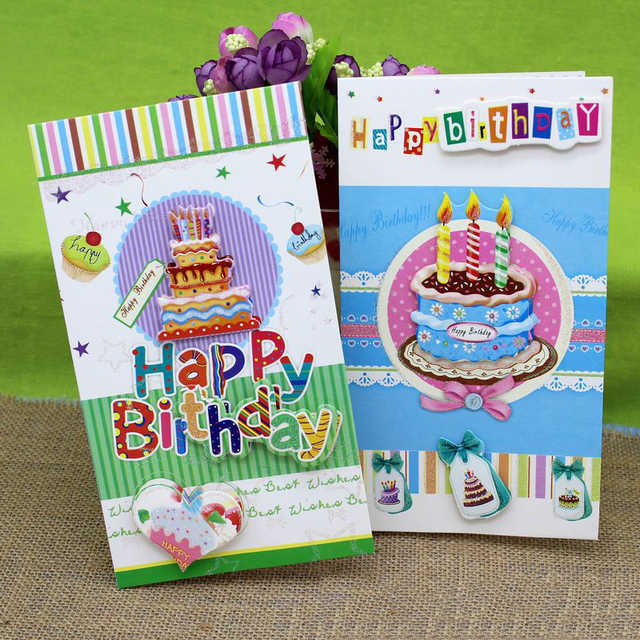 8 pieceslot3d stereo cake handmade birthday greeting card with 8 pieceslot3d stereo cake handmade birthday greeting card with envelope best m4hsunfo
