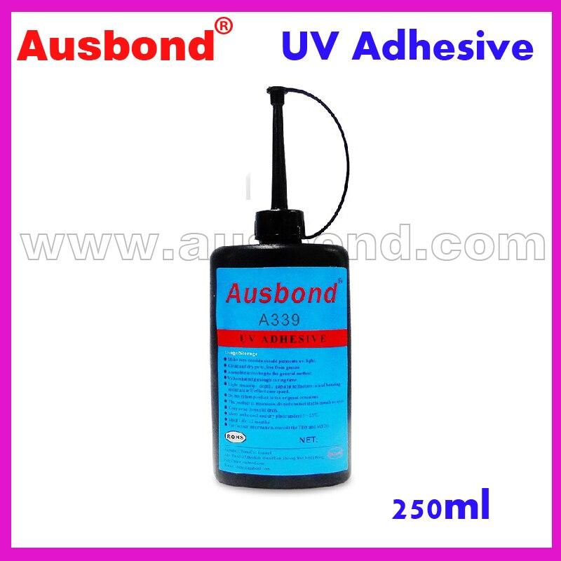 Wholesale UV UltraViolet Visible Light Cure Adhesive Acrylic UV Adhesive Cleanness Plastic ABS PC PMMA Shadowless UV Glue 250ml longevita uv cure eco