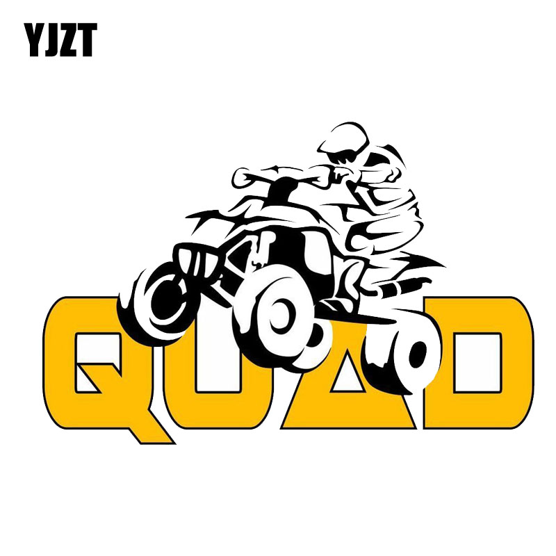 YJZT 15.2CM*10CM Fashion Decoration  Quad Bike  PVC Motorcycle Car Sticker 11-00246