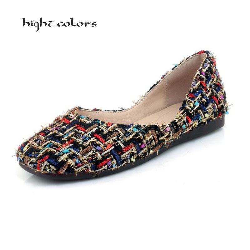 New 2018 Spring Vintage Oxford Shoes Mixed Colors Women Square Toe flats shoes slip-on casual loafers shoes Big Size 32~44 HC45 hot 2017 new fashion womens weave shoes spring summer mixed color breathable casual shoes flats slip on loafers tenis feminino