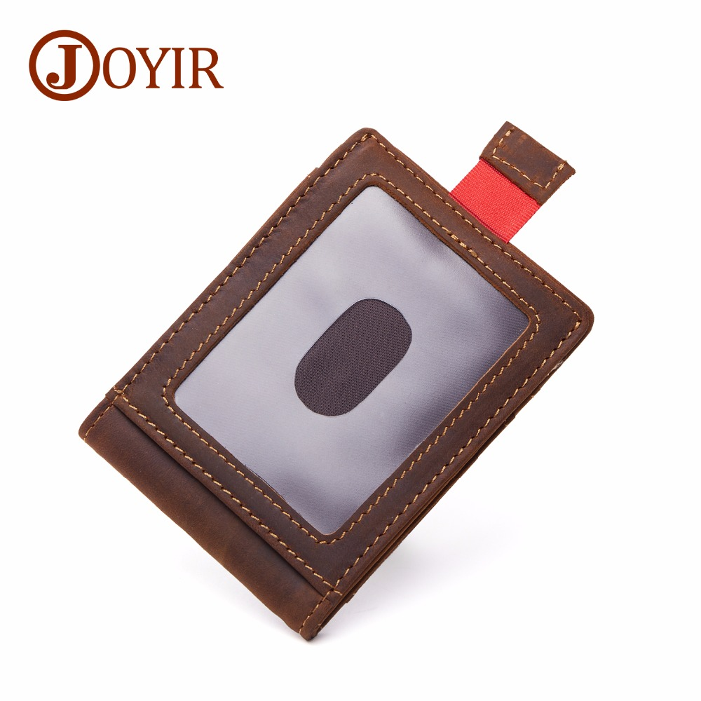 JOYIR RFID Production Genuine Leather Men Card Holder Short Wallet Man Credit ID Card Holder Slim Purse Male Coin Small Bag K024 joyir vintage men genuine leather wallet short small wallet male slim purse mini wallet coin purse money credit card holder 523