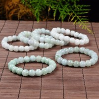 New Wholesale 100% Natural / Jadeite Lotus Beads Elastic line Bracelet 1PCS