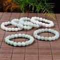 Novo Atacado 100% Natural Jade/Jadeite Lotus Beads Pulseira Elástica linha 1 PCS