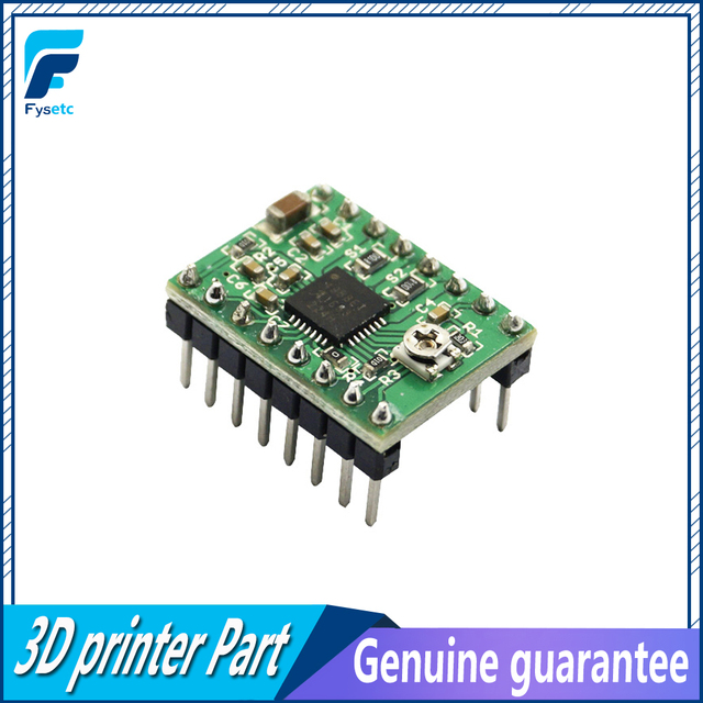 US $3 14 13% OFF 1pc Green StepStick A4988 Stepper Motor Driver  Dropshipping (with Heatsink,1A) Driver A4988 Driver Module for 3D  Printer-in 3D