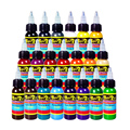 Solong Ink Tattoo 21 Cores Definir 1 oz 30 ml/Garrafa Kit Tatuagem Pigmento